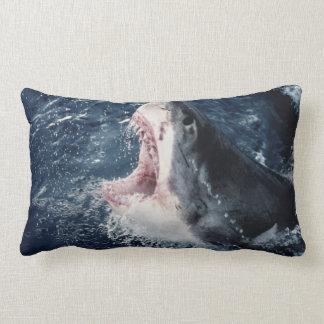Elevated Shark mouth open Lumbar Pillow