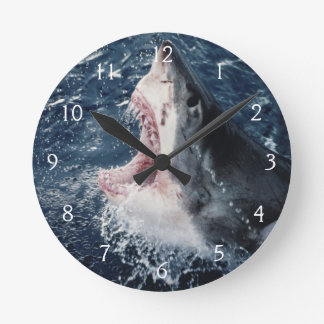 Elevated Shark mouth open Round Clock