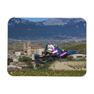 Elevated town view and Hotel Marques de Riscal 2 Vinyl Magnet