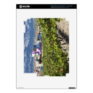Elevated town view and Hotel Marques de Riscal Skins For iPad 3