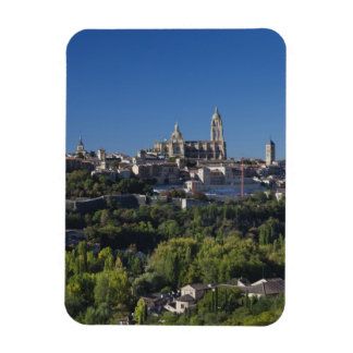 Elevated town view with the Segovia Cathedral Magnet