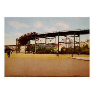 Elevated Train at 110th Street NYC Photo-Print Poster