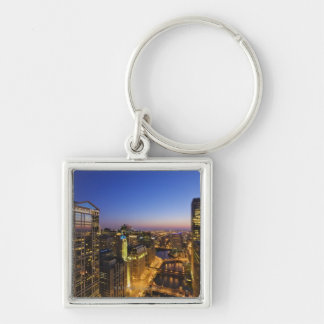 Elevated view, Chicago River Keychain