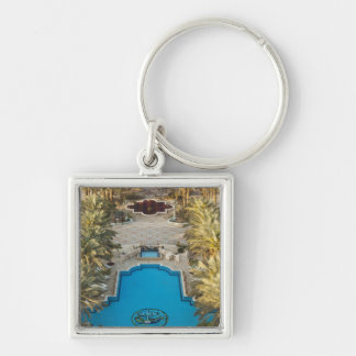 Elevated view Herods Palace Hotel swimming pool Keychain