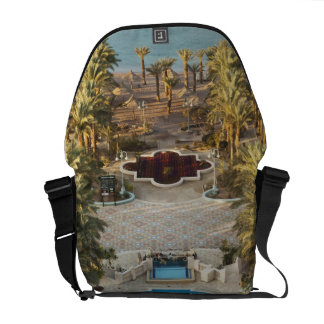 Elevated view Herods Palace Hotel swimming pool Messenger Bag