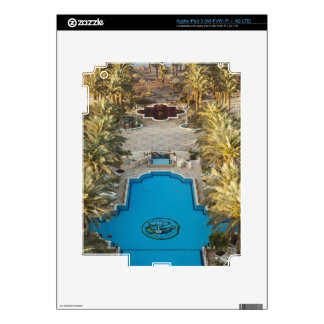 Elevated view Herods Palace Hotel swimming pool Skins For iPad 3