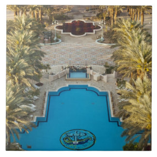 Elevated view Herods Palace Hotel swimming pool Tile