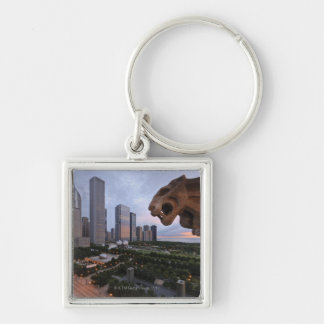 Elevated View of Milennium Park Keychain
