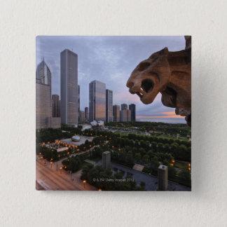 Elevated View of Milennium Park Pinback Button