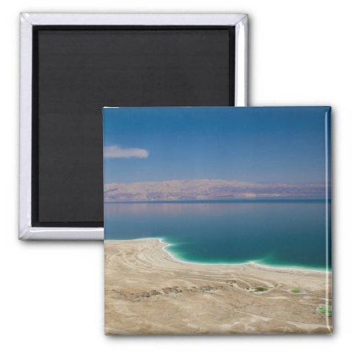 Elevated view of the Dead Sea 2 Inch Square Magnet