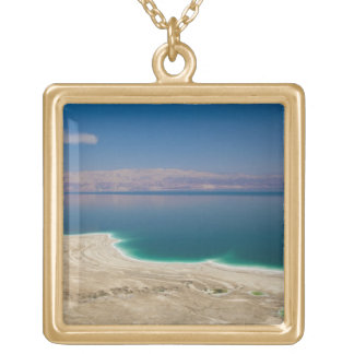 Elevated view of the Dead Sea Gold Plated Necklace