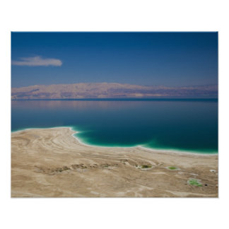 Elevated view of the Dead Sea Print