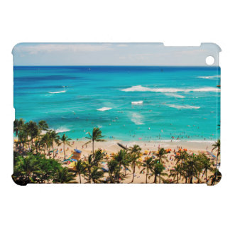 Elevated View Of Waikiki Beach Scene, Honolulu 2 iPad Mini Cases