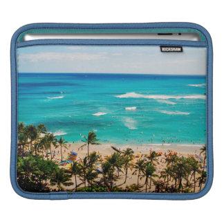 Elevated View Of Waikiki Beach Scene, Honolulu 2 Sleeves For iPads