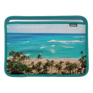 Elevated View Of Waikiki Beach Scene, Honolulu 2 MacBook Sleeve