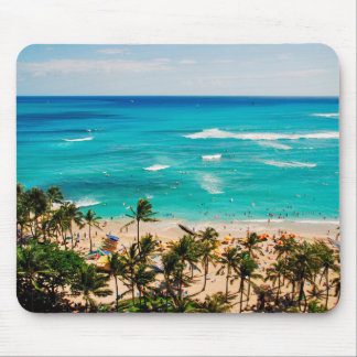 Elevated View Of Waikiki Beach Scene, Honolulu 2 Mouse Pad