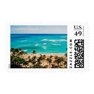 Elevated View Of Waikiki Beach Scene, Honolulu 2 Postage