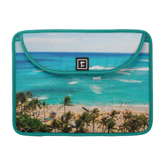 Elevated View Of Waikiki Beach Scene, Honolulu 2 Sleeve For MacBooks