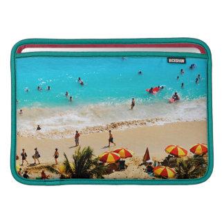 Elevated View Of Waikiki Beach Scene, Honolulu MacBook Sleeve