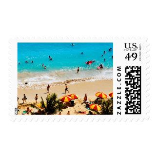 Elevated View Of Waikiki Beach Scene, Honolulu Postage