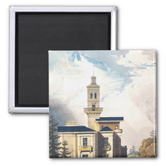Elevation of an Italian Villa or Hunting Lodge Magnet