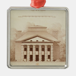 Elevation of house of director of the salt christmas ornament