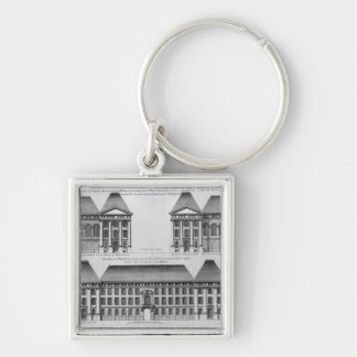 Elevation of the Hopital des Enfants Trouves Keychain