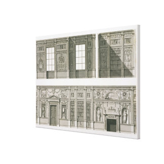 Elevation of the Library at Syon House, c.1760-69 Canvas Print