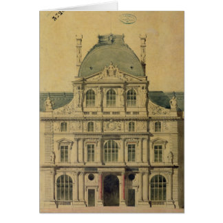 Elevation of the Pavillon de l Horloge Greeting Cards
