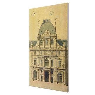 Elevation of the Pavillon de l'Horloge Canvas Print