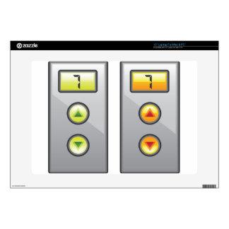 "Elevator Buttons 15"" Laptop Skin"