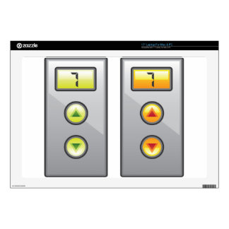 """Elevator Buttons Skin For 17"""" Laptop"""