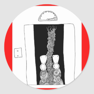 elevator classic round sticker