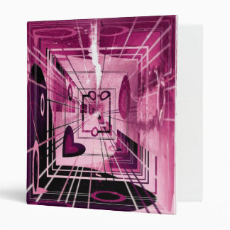 Elevator Down Abstract 3 Ring Binder
