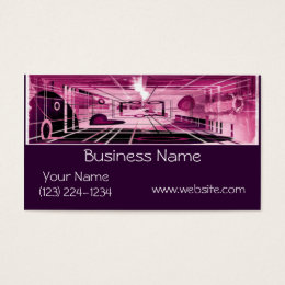 Elevator Down Abstract Business Card