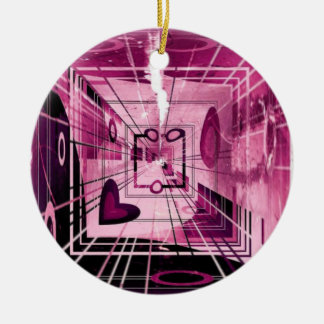 Elevator Down Abstract Ceramic Ornament