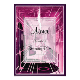 Elevator Down Abstract Personalized Invitations