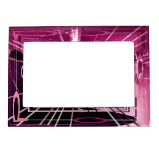 Elevator Down Abstract Magnetic Picture Frame