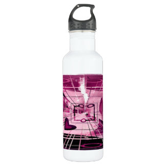Elevator Down Abstract Stainless Steel Water Bottle