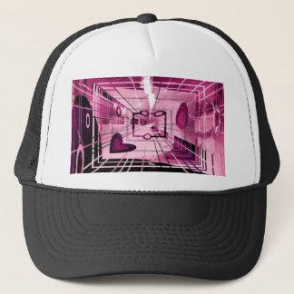 Elevator Down Abstract Trucker Hat
