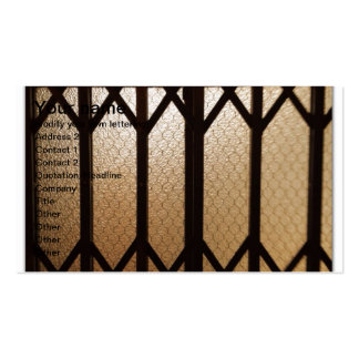 elevator gate golden brass Double-Sided standard business cards (Pack of 100)