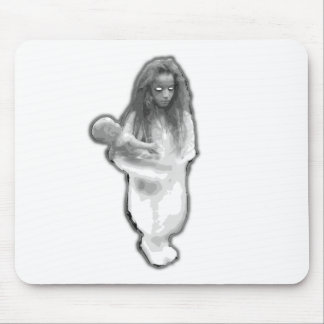 Elevator ghost prank little girl brazilian mouse pads