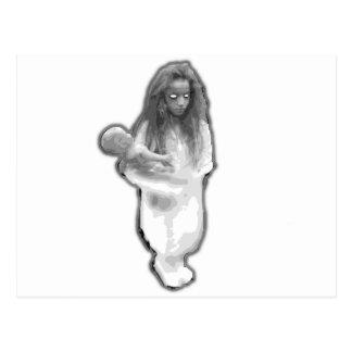 Elevator ghost prank little girl brazilian postcard