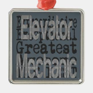Elevator Mechanic Extraordinaire Metal Ornament
