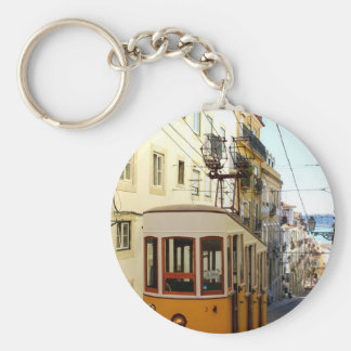 Elevator of the Pipe, Lisbon, Portugal Keychain