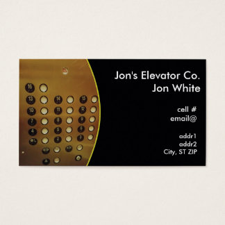 elevator panel business card