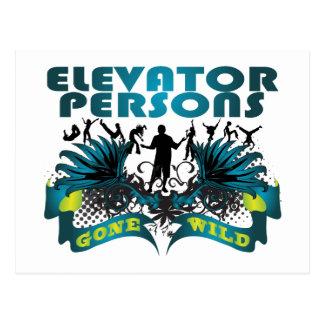 Elevator Persons Gone Wild Postcard