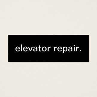 Elevator Repair Business Card