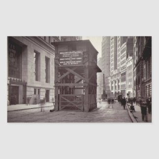 Elevator Shaft North of Exchange Place NYC Rectangular Sticker