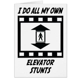 Elevator Stunts Card